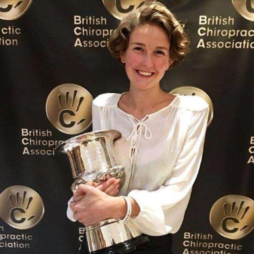 amy-miller chiropractor of the year 2018 Baytree Chiro Lymington